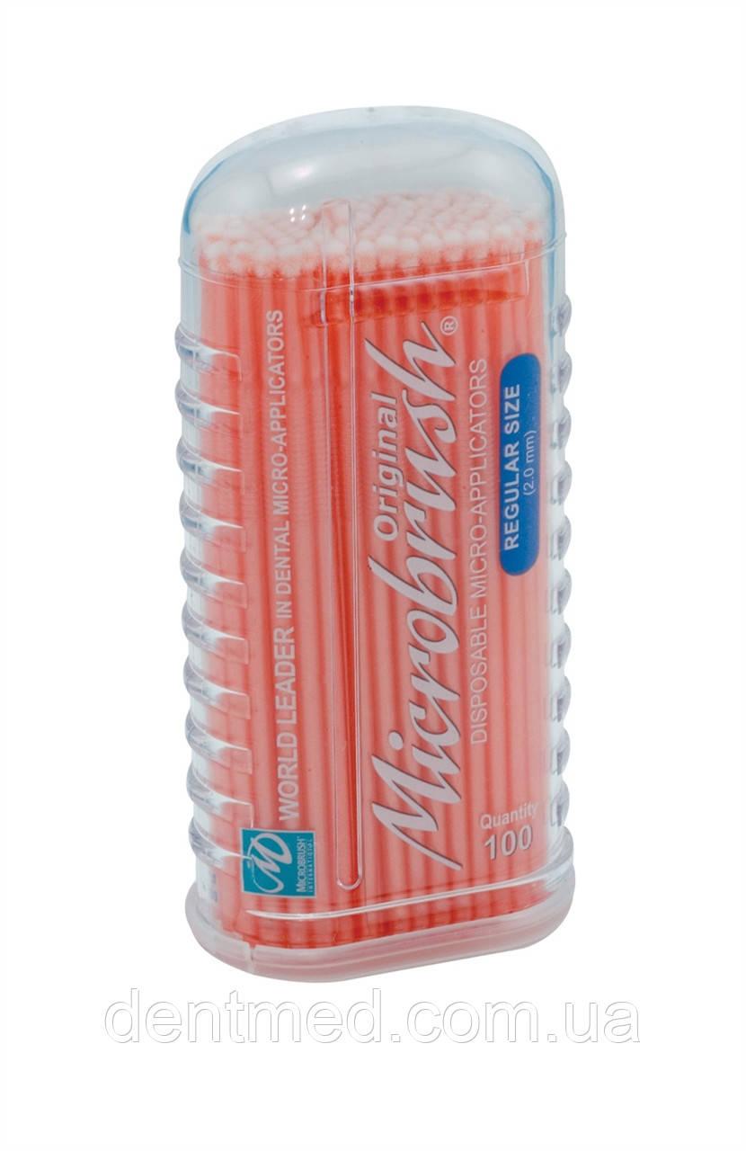 Микроаппликаторы короткие Microbrush Original - Regular 100шт/уп NaviStom