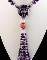 Ожерелье подарочное из агата