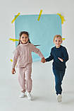 Теплий в'язаний костюм з рельєфною в'язкої для дівчинки 122-152р, фото 5