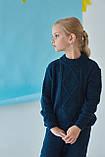 Теплий в'язаний костюм з рельєфною в'язкої для дівчинки 122-152р, фото 7