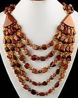 Массивное ожерелье из авантюрина