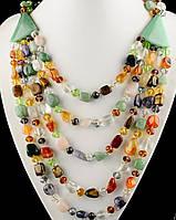 Ожерелье из самоцветов на подарок девушке