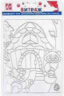Трафарет для рисования красками по стеклу Енотик 22С 1407-08