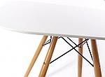 Стіл Тауер Вуд обідній, білий, МДФ, круглий, діаметр 80 см, фото 3