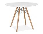 Стіл Тауер Вуд обідній, білий, МДФ, круглий, діаметр 80 см, фото 6