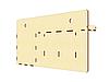 Настінна ключниця вішалка для ключів на 3 гачка з поличкою і кишенею, фото 6
