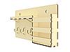 Настінна ключниця вішалка для ключів на 3 гачка з поличкою і кишенею, фото 5