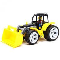 Трактор пластиковий, жовтий