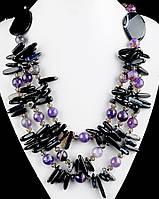 Ожерелье из камня аметист