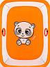Манеж Qvatro Сонечко-02 дрібна сітка помаранчевий (panda), фото 2