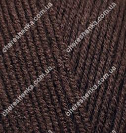 Нитки Alize Lanagold Fine 26 коричневый