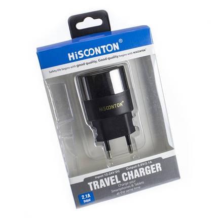 Сетевой адаптер HISOONTON HST052  2USB 2.1A  *1369, фото 2