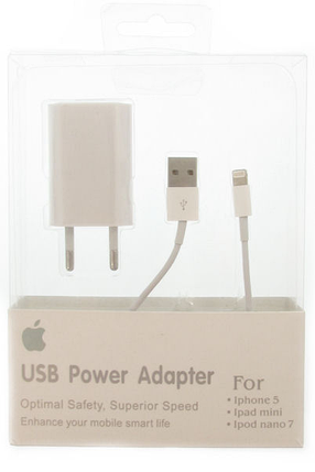 Сетевое зарядное устройство APPLE IPHONE 5  *1375, фото 2