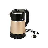 Чайник електричний Grunhelm EKS-1855-SC 2.5 л бежевий з чорним