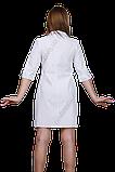 Халат медицинский женский ФЛОРАНС габардин, фото 3