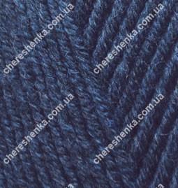 Нитки Alize Lanagold Fine 58 темно-синий