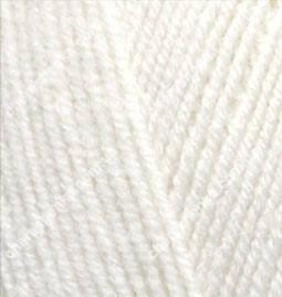 Нитки Alize Lanagold Fine 62 молочный, фото 2