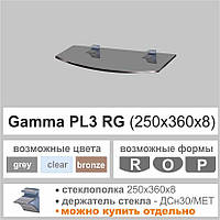 Полка стеклянная Commus PL3 RG