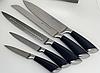 Набір ножів з підставкою Edenberg EB-11002 6 предметів 5 ножів   Ножі кухонні універсальний набір, фото 4