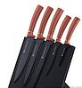 Набор ножей с подставкой Edenberg EB-11007 6 предметов 5 ножей   Ножи кухонные универсальный набор, фото 4