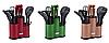Набор ножей поварешек с подставкой Edenberg EB-11099 14 предметов | Набор Кухонных принадлежностей, фото 2