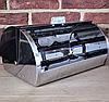 Хлебница Edenberg EB-113 из нержавеющей стали с откидной крышкой Черная   Хлебница нержавейка на кухню, фото 7
