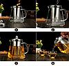 Чайник-заварник Edenberg EB-19022 750 мл термостойкое стекло до 500 град. | заварочный чайник Эдерберг, фото 3