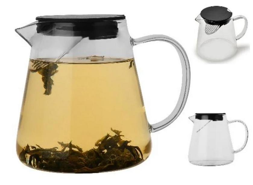Чайник-заварник Edenberg EB-19044 1300 мл термостойкое стекло до 500 град. | заварочный чайник Эдерберг