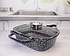 Жаровня Edenberg EB-3320 3в1 двухсторонняя алюминий с гранитным покрытием гусятница казан сковорода с крышкой, фото 3