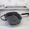 Жаровня Edenberg EB-3320 3в1 двухсторонняя алюминий с гранитным покрытием гусятница казан сковорода с крышкой, фото 4