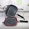 Жаровня Edenberg EB-3320 3в1 двухсторонняя алюминий с гранитным покрытием гусятница казан сковорода с крышкой, фото 6