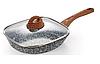 Сковорода Edenberg EB-3343 с крышкой квадратная с двусторонним гранитным покрытием 24 см, фото 3