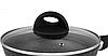 Сковорода Edenberg EB-3430 с крышкой антипригарное мраморное покрытие 28 см, фото 3