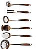 Набір ножів поварешек з підставкою Edenberg EB-3604 7 предметів   Набір Кухонного приладдя, фото 2