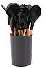 Набор поварешек с подставкой Edenberg EB-3610 12 предметов | Набор Кухонных принадлежностей, фото 2