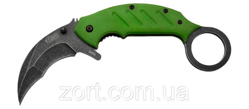 Нож складной, механический керамбит P2045