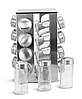 Набір для спецій Edenberg EB-4025 17в1 скляний обертається підставкою з нержавіючої сталі, фото 3
