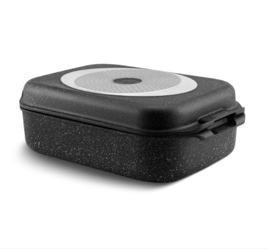 Гусятниця гриль сковорода Edenberg EB-4606 алюміній з мармуровим покриттям 5,5 л
