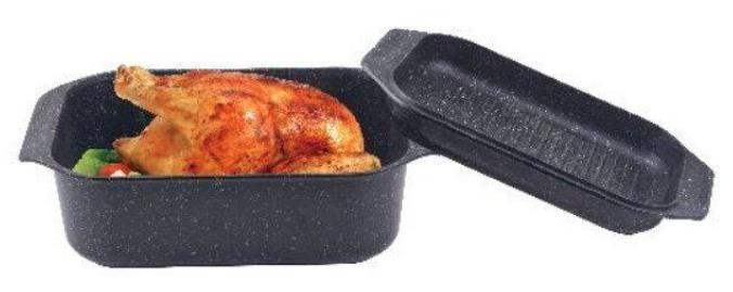 Гусятница сковорода гриль Edenberg EB-4611 алюминий с мраморным покрытием 8л