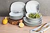 Столовый набор Edenberg EB-503 фарфор 18 предметов   Обеденный сервиз набор кухонных тарелок Эденберг, фото 4