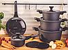 Набір посуду Edenberg EB-5641 12 предметів алюміній з мармуровим покриттям   Каструлі сковорода ківш, фото 8