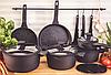 Набор посуды Edenberg EB-5643 15 предметов алюминий с мраморным покрытием   Кастрюли сковороды ковш поварешки, фото 7