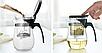 Чайник-заварник Edenberg EB-333 800 мл термостійке скло до 500 град. | заварювальний чайник Эдерберг, фото 3