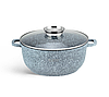 Набір посуду Edenberg EB-8040 алюміній з гранітним покриттям 14 предметів з кришками каструлі, сковороди ківш, фото 2