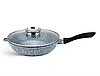 Набір посуду Edenberg EB-8040 алюміній з гранітним покриттям 14 предметів з кришками каструлі, сковороди ківш, фото 4