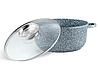 Набір посуду Edenberg EB-8040 алюміній з гранітним покриттям 14 предметів з кришками каструлі, сковороди ківш, фото 8