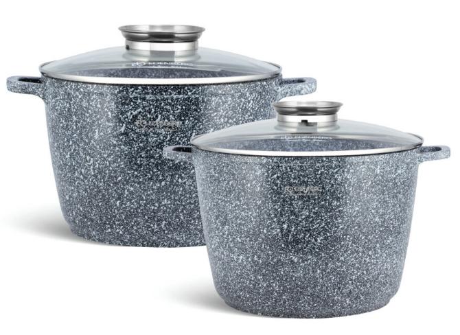 Набір каструль Edenberg EB-8045 з кришками 4 предмета алюміній, гранітне покриття | Каструлі глибокі