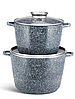 Набір каструль Edenberg EB-8045 з кришками 4 предмета алюміній, гранітне покриття | Каструлі глибокі, фото 4