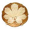 Піднос , суха різьба по дереву , діаметр 30 см.