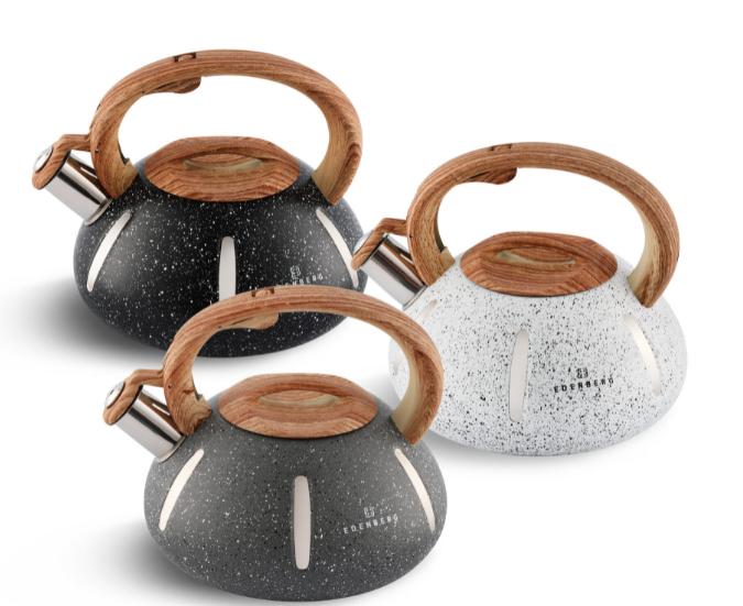 Чайник Edenberg EB-8844 со свистком из нержавеющей стали 3 л | Свистящий чайник